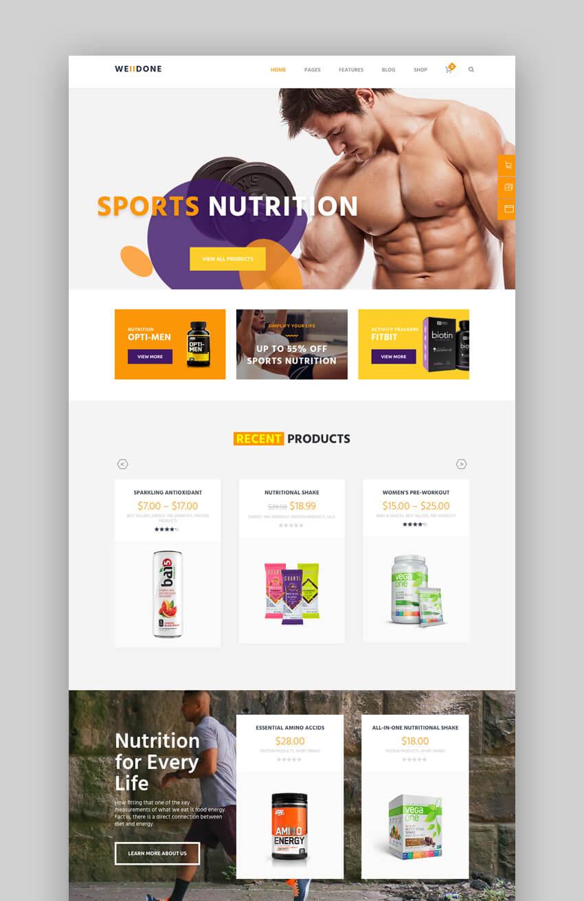 Welldone Sports WordPress Theme