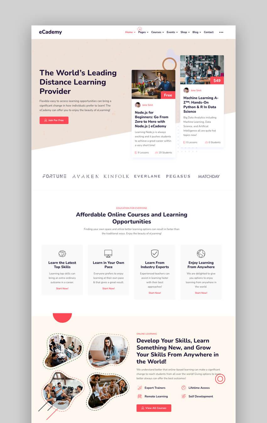 eCademy WordPress Theme