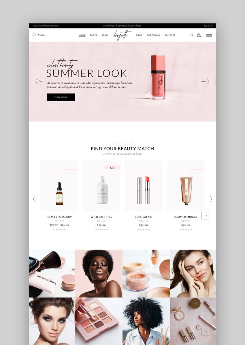 Biagiotti Beauty and Cosmetics Shop theme