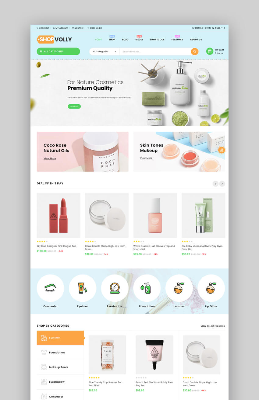ShopVolly - Multipurpose WooCommerce Theme For Beauty And Cosmetics Stores