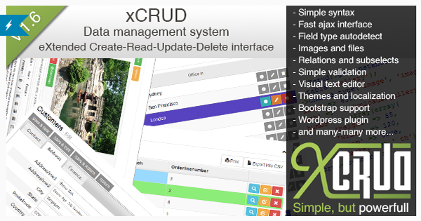 xCRUD - Data Management System PHP CRUD