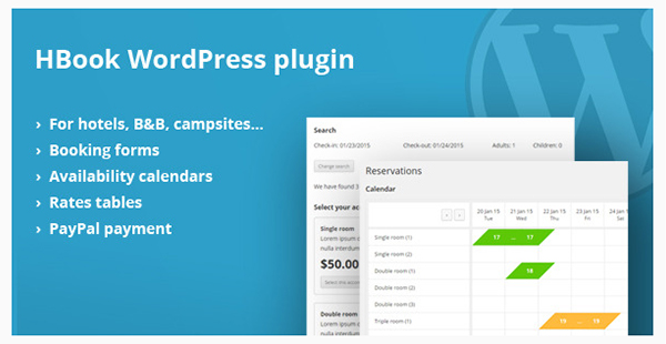 17 HBook - Hotel Booking System - WordPress Plugin