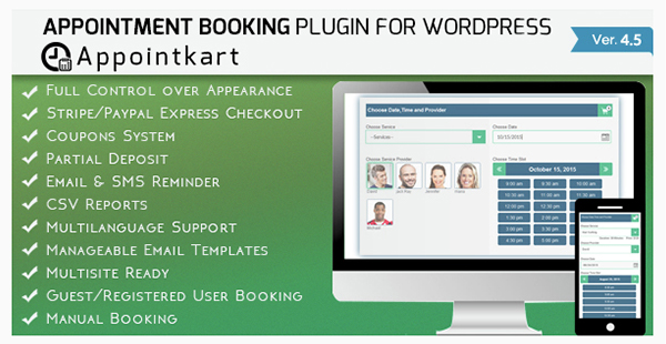 Appointment Booking and Scheduling for Wordpress - Appointkart