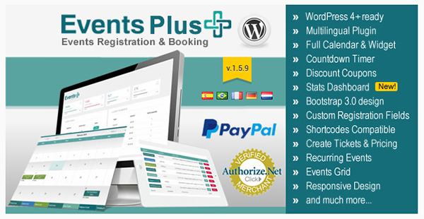 WordPress Events Calendar Registration Booking