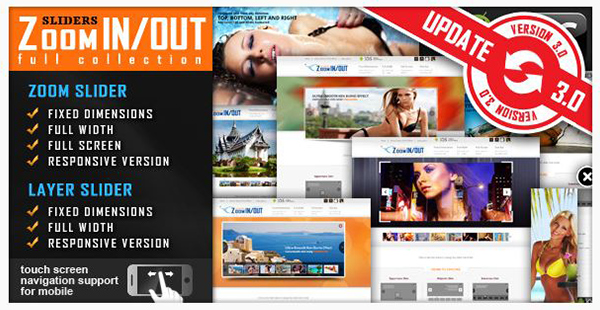 jquery Slider Zoom InOut Effect Fully Responsive