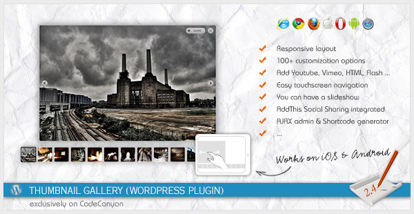 Thumbnail Gallery WordPress Plugin
