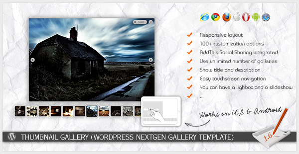 Thumbnail Gallery WP NextGEN Gallery Template