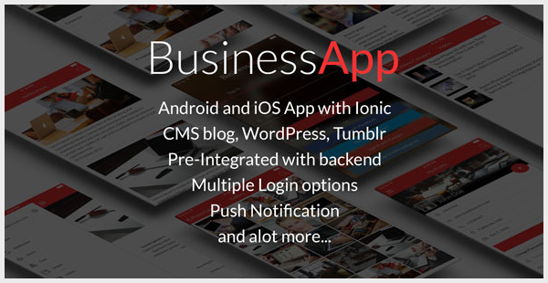 BusinessApp - Ionic iOSAndroid Full Application with Powerful CMS