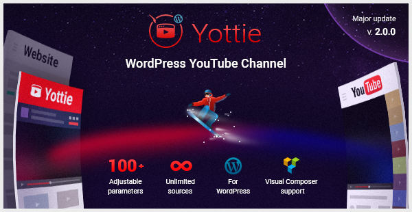 YouTube Channel WordPress Plugin  Yottie