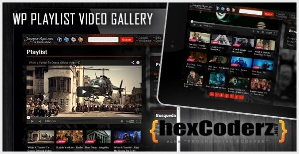 WP Playlist Video Gallery