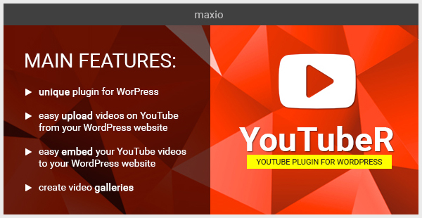 YouTubeR - Unique YouTube Videos Plugin