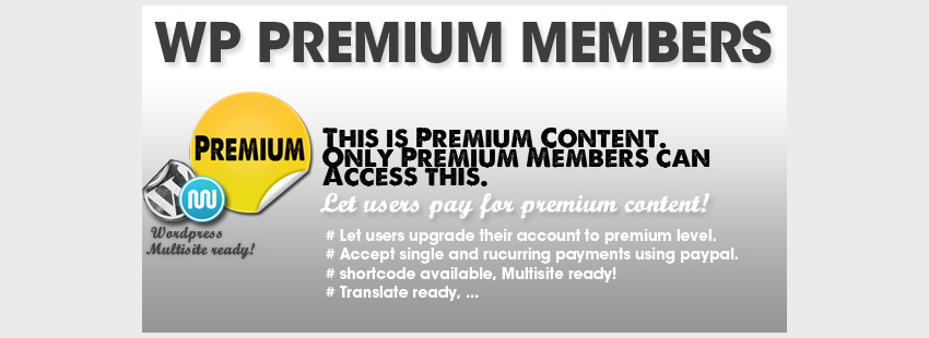 WP Premium Members  Pre Advertisements Admin