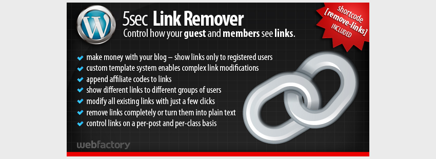 5sec Link Remover - A Membership Extension Plugin