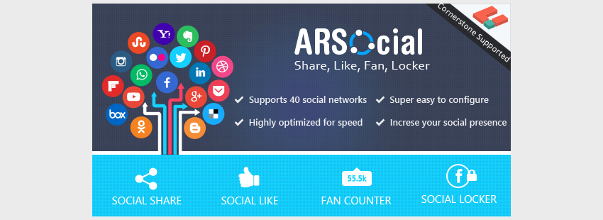 ARSocial - Social Share  Social Locker