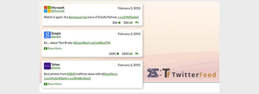 Twitter Feed - Social plugin for WordPress