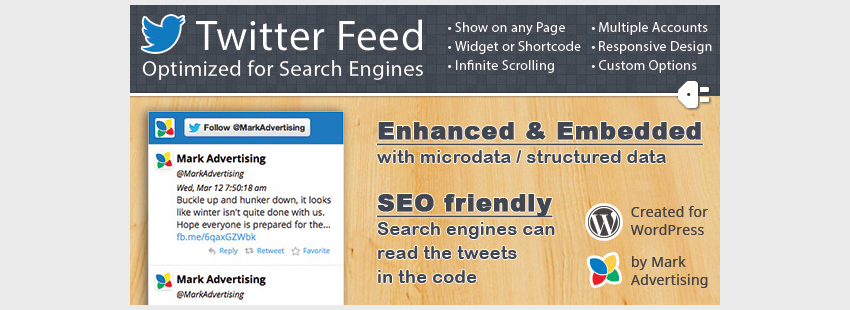 Twitter Feed Optimized for Search Engines