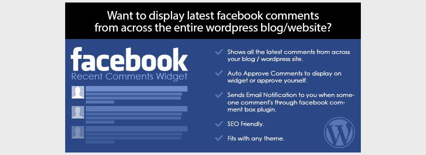 Facebook Recent Comments Widget for WordPress