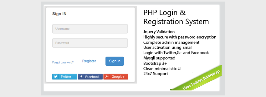 Secure-PHP-Login  Registration System