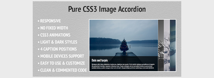Pure CSS3 Image Accordion
