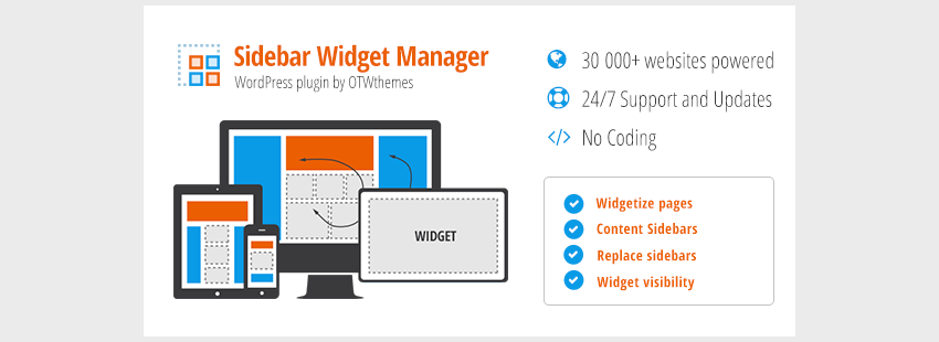 Sidebar  Widget Manager for WordPress
