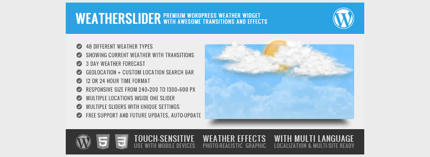 how to add a weather widget on wordpress