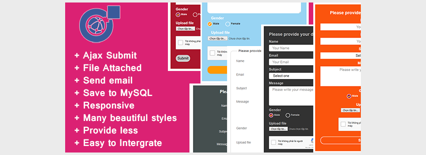 Responsive AJAX Contact Form - PHP MySQL and Send Mail
