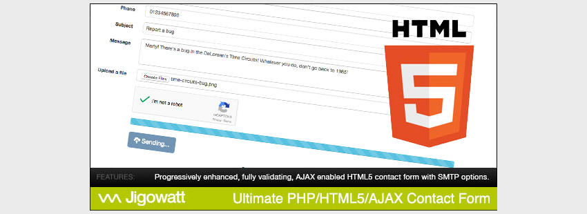 Ultimate PHP HTML5 AJAX Contact Form Bootstrap Edition