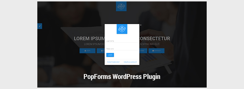 PopForms  Material Design WordPress Modal Forms Set