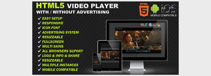 HTML5 Responsive Video Player Advertising