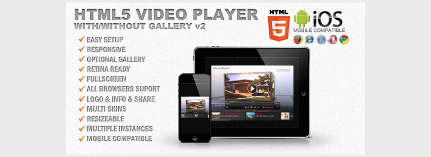 Responsive HTML5 Video Player  Gallery
