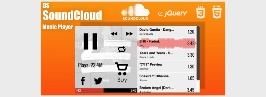DS SoundCloud Custom Music Player