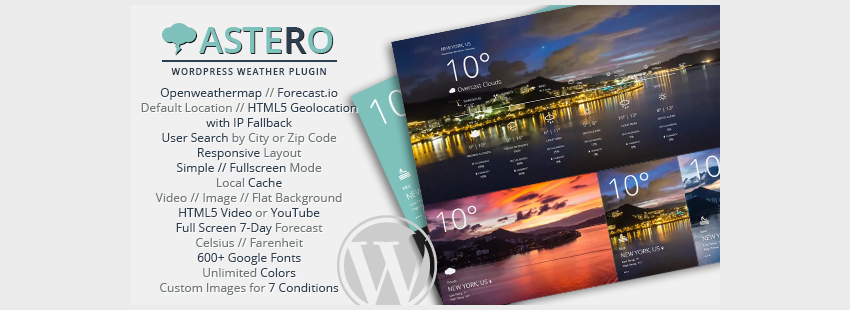 Astero WordPress Weather Plugin