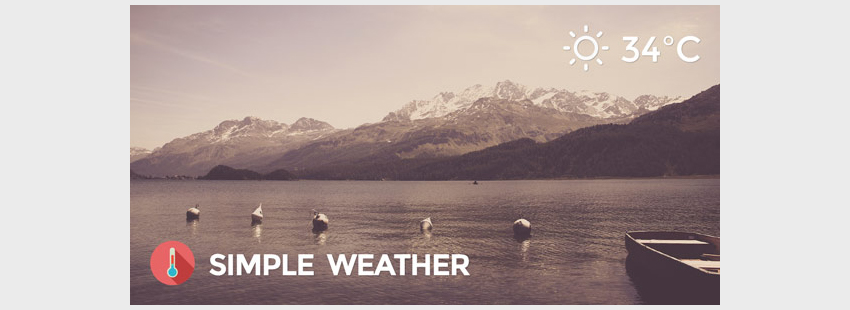 Weather WordPress Shortcode  Widget - Simple Weather Plugin