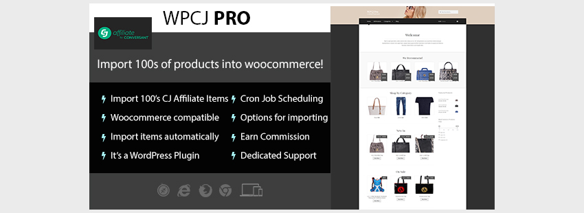 WPCJ Pro - WooCommerce CJ Affiliate WordPress Plugin
