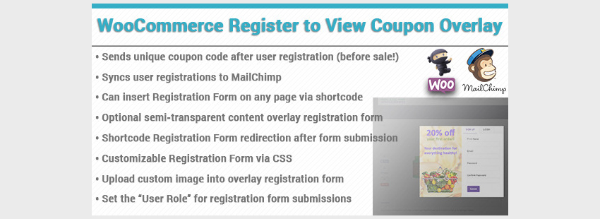 WooCommerce Coupon Registration Overlay