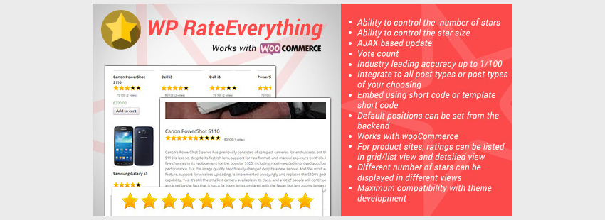 WordPress Rate Everything Star Rating Plugin