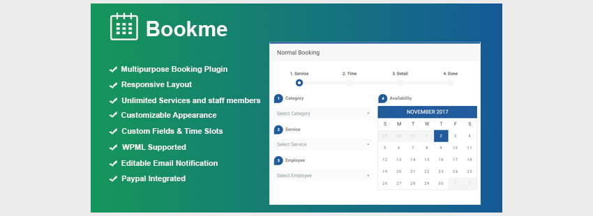 Bookme - WordPress Booking Plugin