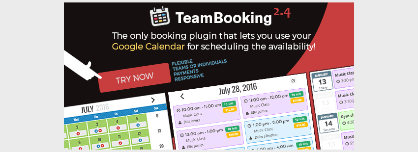 Team Booking - WordPress booking system