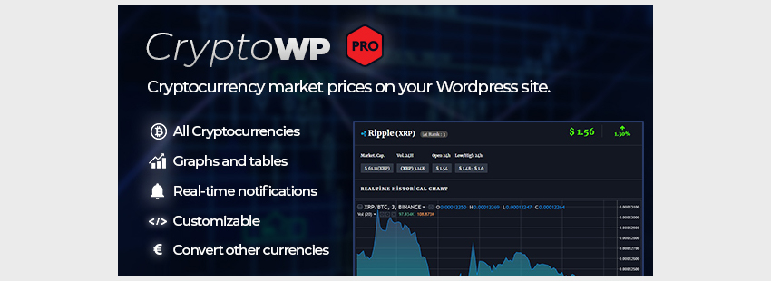 CryptoWP - Realtime Cryptocurrency Market Prices on WordPress PRO