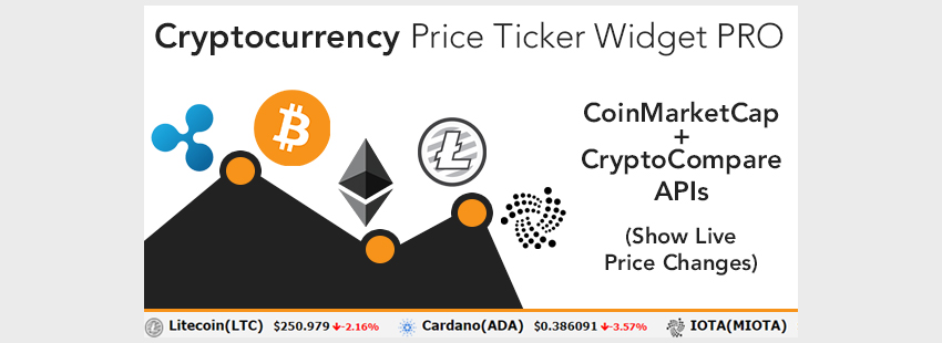 Cryptocurrency Price Ticker Widget PRO - WordPress Plugin