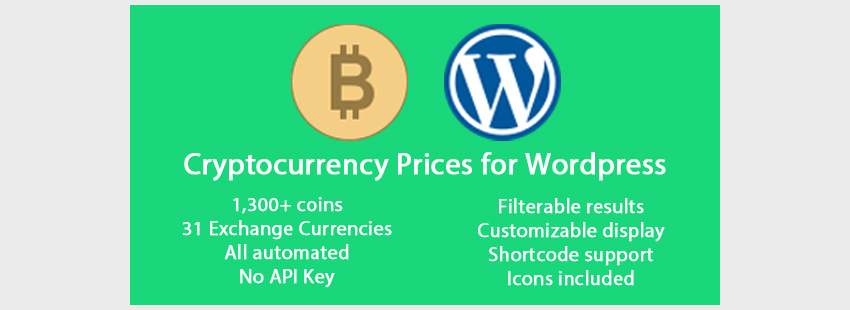 Cryptocurrency Prices for WordPress