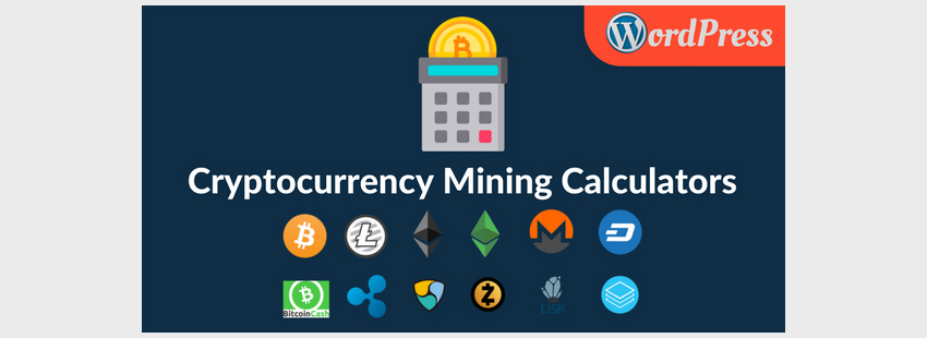 Cryptocurrency Mining Calculator Widgets for WordPress