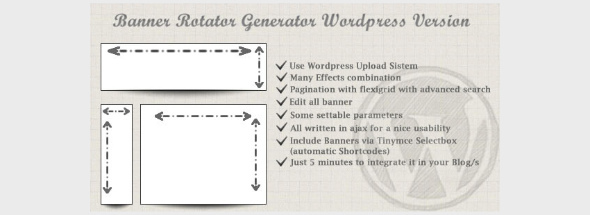 Banners Rotator Generator For WordPress