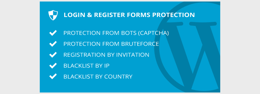 Login  Register Forms Protection - WordPress Plugin