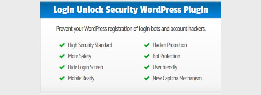 LUS Login Unlock Security for WordPress a Modern and Safe Captcha Slide for WordPress Login