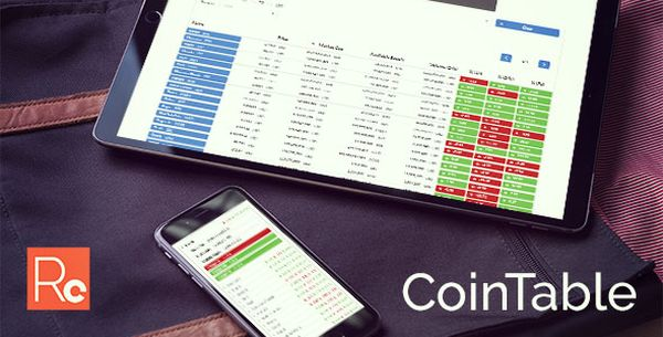 Coin Table - Cryptocurrency Market CMS