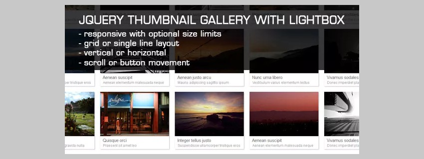 15 Best jQuery Image Galleries