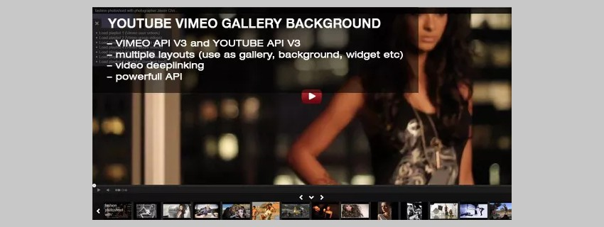 YouTube Vimeo Gallery Background