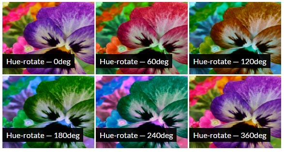CSS Hue-Rotate Filter Effect