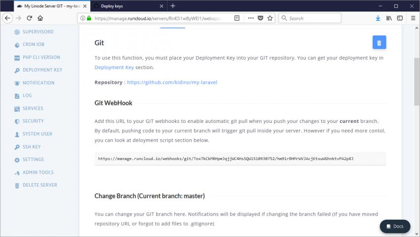 Git Webhook URL